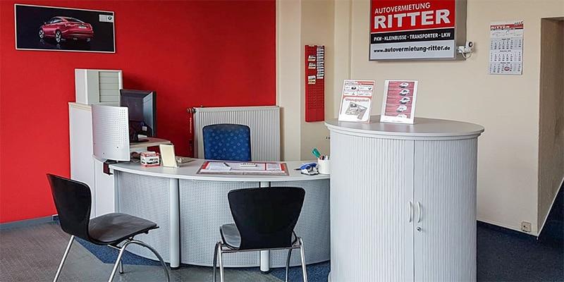 Autovermietung Ritter Plauen - Büro Beratungsbereich