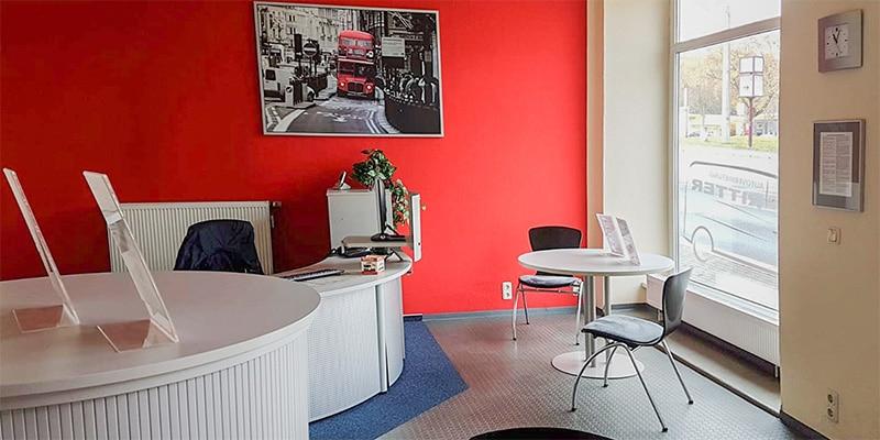 Autovermietung Ritter Plauen - Büro Eingangsbereich